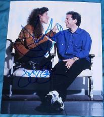 Jerry Seinfeld & Julia Louis-dreyfus Signed Autograph Classic Show Promo Photo