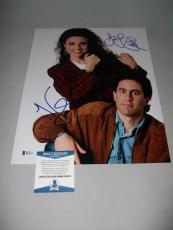 """JERRY SEINFELD & JULIA LOUIS-DREYFUS signed """"SEINFELD"""" 11x14 PHOTO BECKETT COA!"""