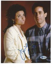 "JERRY SEINFELD & JULIA LOUIS-DREYFUS signed ""SEINFELD"" 8x10 PHOTO BECKETT COA!"