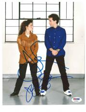 "JERRY SEINFELD & JULIA LOUIS-DREYFUS signed ""SEINFELD"" 8x10 PHOTO PSA/DNA COA!"