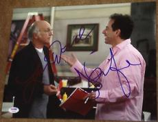 Jerry Seinfeld & Larry David Signed Famous Show Scene 11x14 Photo Psa/dna V14243