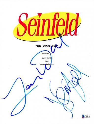 Jerry Seinfeld Larry David Signed Seinfeld Pilot Script Autograph Beckett Coa