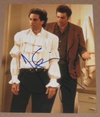 Jerry Seinfeld & Michael Richards Signed 11x14 Photo Puffy Shirt Proof Coa