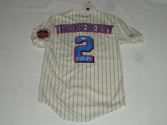 Jerry Seinfeld Signed #2 New York Mets Marvelous Marv Throneberry Jersey Jsa Coa