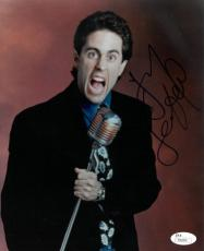 Jerry Seinfeld signed 8x10 Photo (vertical with microphone)- JSA Hologram #T40099 (tv/comedian/entertainment)