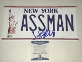 Jerry Seinfeld Signed Assman License Plate Authentic Autograph Proof Becket Coa