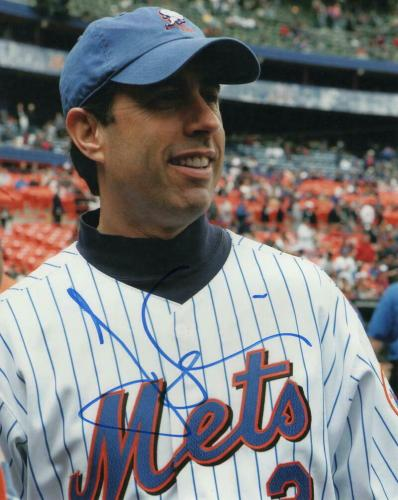 JERRY SEINFELD SIGNED AUTOGRAPH 8x10 PHOTO - LARRY DAVID, COMEDIANS IN CARS METS