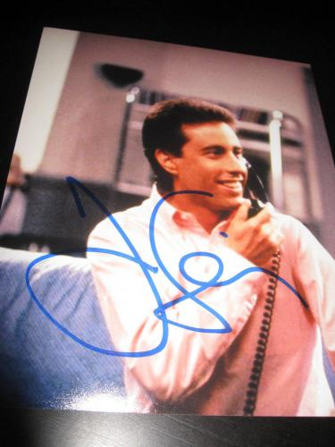 JERRY SEINFELD SIGNED AUTOGRAPH 8x10 PHOTO PROMO TELEVISION ICONIC COMEDIAN X8
