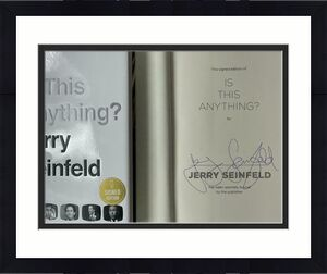 """Jerry Seinfeld Signed Autograph """"is This Anything?"""" Book - Rare Full Signature"""