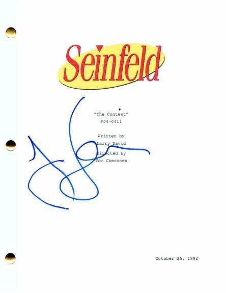 "Jerry Seinfeld Signed Autograph Seinfeld ""the Contest"" Full Episode Script Rare!"