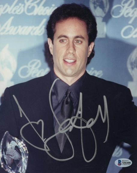Jerry Seinfeld Signed Autographed 8X10 Photo People's Choice Award BAS X86408