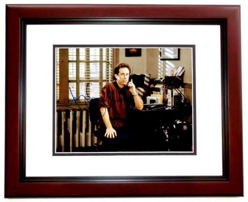 Jerry Seinfeld Signed - Autographed SEINFELD 11x14 inch Photo MAHOGANY CUSTOM FRAME - Guaranteed to pass PSA or JSA