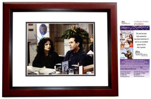 Jerry Seinfeld Signed - Autographed SEINFELD 11x14 inch Photo - MAHOGANY CUSTOM FRAME - JSA Certificate of Authenticity