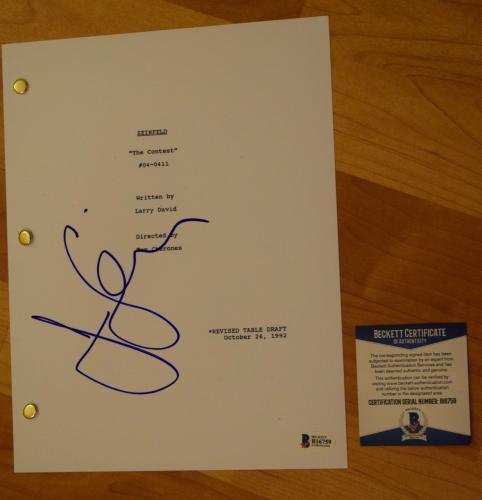 Jerry Seinfeld Signed Autographed Seinfeld The Contest Episode Script BAS COA