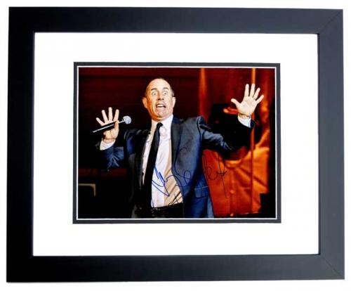 Jerry Seinfeld Signed - Autographed Stand-Up Comedian 11x14 inch Photo BLACK CUSTOM FRAME - Guaranteed to pass PSA or JSA