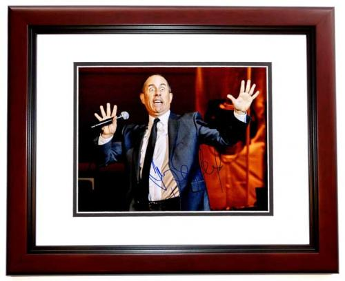 Jerry Seinfeld Signed - Autographed Stand-Up Comedian 11x14 inch Photo MAHOGANY CUSTOM FRAME - Guaranteed to pass PSA or JSA