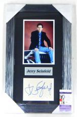 Jerry Seinfeld Signed Display Piece Framed Matted JSA Auto