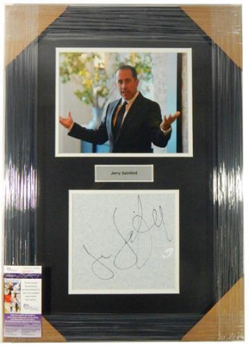 Jerry Seinfeld Signed Framed Display Framed Matted JSA Auto