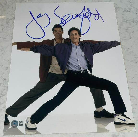 Jerry Seinfeld Signed Full Autograph Classic Funny Show Episode 11x14 Photo D