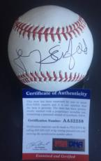 Jerry Seinfeld Signed Official Mlb Baseball Mets PSA Coa Full Autograph Comedian
