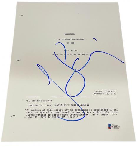 Jerry Seinfeld Signed Seinfeld The Chinese Restaurant Script Autograph Beckett