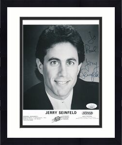"Jerry Seinfeld Signed/Inscribed ""To Paul,"" 8x10 B/W Photo JSA 140989"
