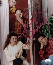 JERRY SEINFELD+JASON ALEXANDER HAND SIGNED 8x10 PHOTO+COA    SEINFELD CAST   JSA