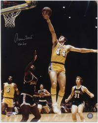 "Jerry West Los Angeles Lakers Autographed 16"" x 20"" Layup Photograph"