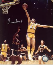 "Jerry West Los Angeles Lakers Autographed 8"" x 10"" vs. Milwaukee Bucks Photograph - Mounted Memories"
