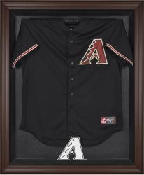 Arizona Diamondbacks Brown Framed Logo Jersey Display Case - Mounted Memories