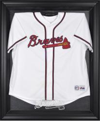 Atlanta Braves Black Framed Logo Jersey Display Case - Mounted Memories