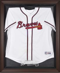 Atlanta Braves Brown Framed Logo Jersey Display Case - Mounted Memories