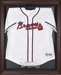 Atlanta Braves Brown Framed Logo Jersey Display Case