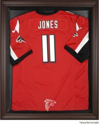 Atlanta Falcons Framed Logo Jersey Display Case - Brown