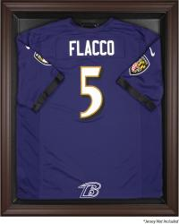 Baltimore Ravens Framed Logo Jersey Display Case - Brown