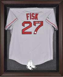 Boston Red Sox Brown Framed Logo Jersey Display Case  - Mounted Memories