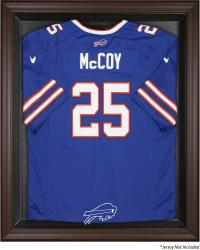 Buffalo Bills Framed Logo Jersey Display Case - Brown - Mounted Memories