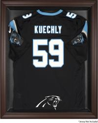 Carolina Panthers Framed Logo Jersey Display Case - Brown - Mounted Memories