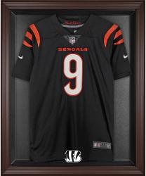Cincinnati Bengals Framed Logo Jersey Display Case - Brown - Mounted Memories
