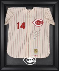 Cincinnati Reds Black Framed Logo Jersey Display Case - Mounted Memories