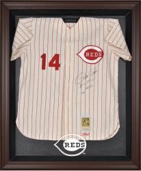 Cincinnati Reds Brown Framed Logo Jersey Display Case