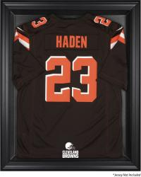 Cleveland Browns Framed Logo Jersey Display Case - Brown - Mounted Memories