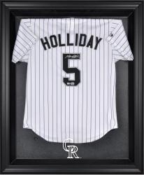 Colorado Rockies Black Framed Logo Jersey Display Case - Mounted Memories