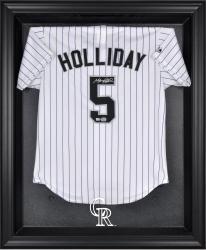 Colorado Rockies Black Framed Logo Jersey Display Case