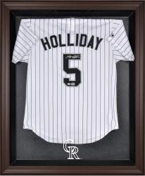 Colorado Rockies Brown Framed Logo Jersey Display Case