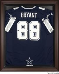 Dallas Cowboys Brown Framed Logo Jersey Display Case - Mounted Memories