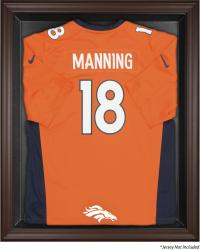 Denver Broncos Brown Framed Logo Jersey Display Case - Mounted Memories
