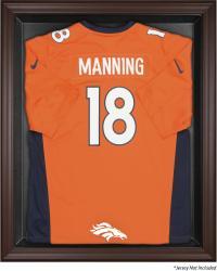 Denver Broncos Brown Framed Logo Jersey Display Case