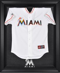 Miami Marlins Black Framed Logo Jersey Display Case - Mounted Memories