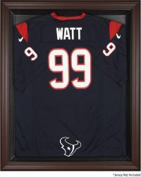 Houston Texans Brown Framed Logo Jersey Display Case